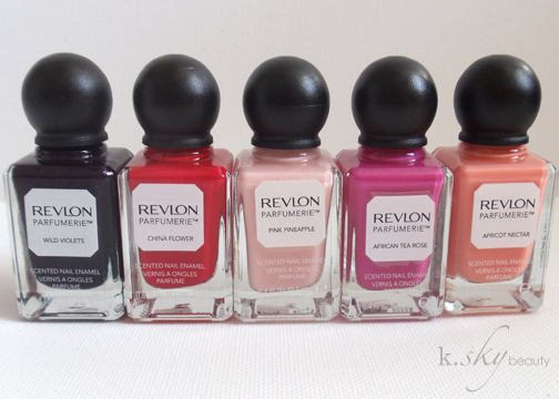 New Revlon Parfumerie Scented Nail Polish Collection Review Swatches K Sky Beauty