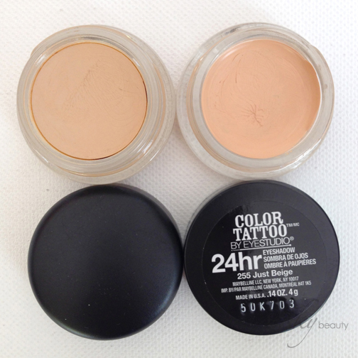 MAC's Soft Ochre compared to Maybelline's Just Beige