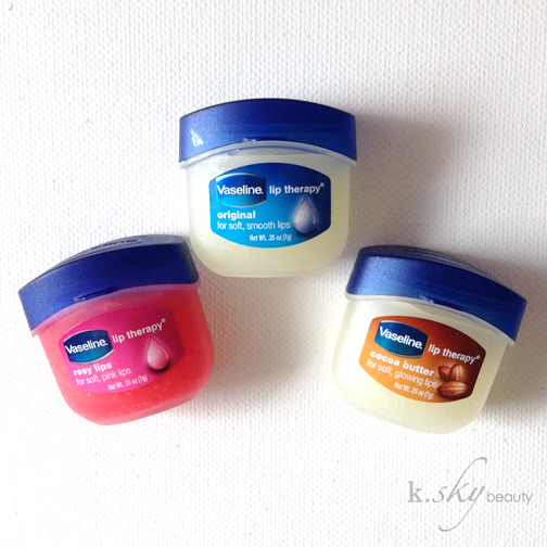 Vaseline Lip Therapy Review: Original, Cocoa Butter & Rosy