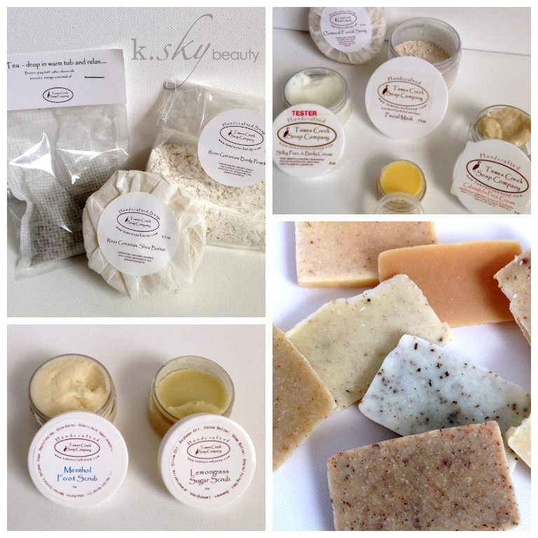 Tawes Creek Soap Company Samples